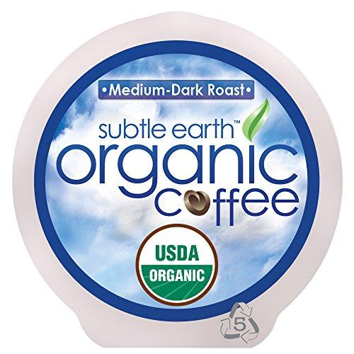 84 ct Subtle Earth Organic Coffee - Single Serve Cups - Medium-Dark Roast - 84 Count box