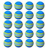 20PCS Practice Golf Balls, for Indoor/Outdoor Practice Golf Balls Playground Toy Foam Balls, Rainbow Colored...