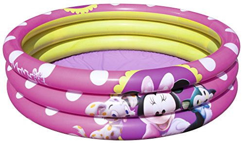 Bestway- Piscina 3 Anelli Minnie, Multicolore, 91060