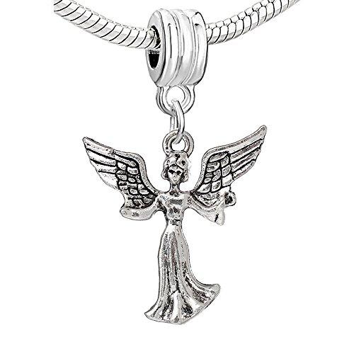 SEXY SPARKLES Frauen 'S Heaven Schutzengel baumeln Charm Bead für Schlange Kette Armbänder