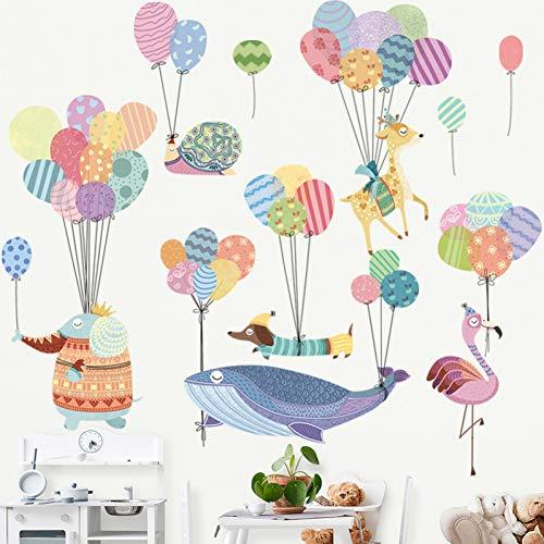 Knutselen met comic-motief, kinderen, slaapkamer, wanddecoratie, zelfklevend, ballon, baby, kinderkamer, muursticker, muurschildering en kunst.