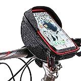 Caishuirong Bolsa de Bicicletas Bolsa de teléfono móvil con Pantalla táctil a Prueba de Agua de Bicicleta Bolsa de Haz Frontal for Bicicleta de montaña: se Puede Cargar Mientras se Conduce Multifu