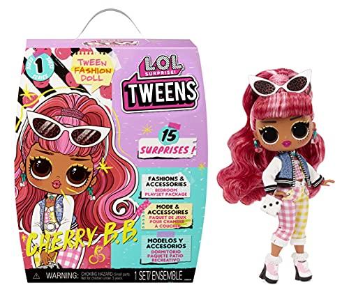LOL Surprise Tweens Puppe - 15 Überraschungen - Inklusive Outfits, Accessoires, Haarbürste, Kleiderbügel, Puppenständer und mehr - Tolles Geschenk für Kinder - Cherry BB