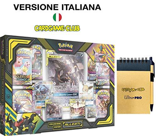 LEONARDO SERVIZI SAS DI Bergamin Catia & C. Pokemon Collezione Poteri Alleati Umbreon e Darkrai-GX + Block Notes