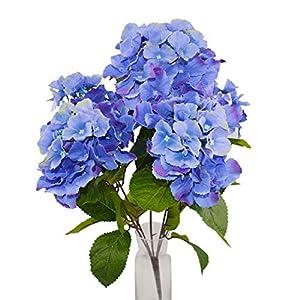Herran Flores Artificiales De Seda Flores Violetas para Mesa Al Aire Libre Decoración De Jardín Barra De La Oficina De…