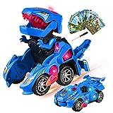 Yojoloin Dinosaurier Spielzeug Transformer Spielzeug Kinder,Transformer Dinosaurier Auto Spielzeug ab 4 5 6 7 8 Junge,Cars Spielzeugauto Switch and Go Dinosaurier Spiel Roboter Dino Car