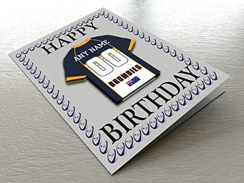 Super Rugby–Rugby Union Kühlschrank Magnet Geburtstag Karten–Jeder Name, beliebige, jedes Team., ACT Brumbies Super XV Rugby Fridge Magnet Card, A5 Fridge Magnet Greeting Card