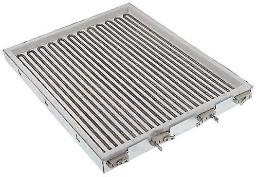 Resistencia radiante cuadrada 9000 W 400 V L 432 mm Lar. 340 mm. Espirales 3 IRCA para freidora adecuado: Electrolux, Zanussi Artículo en chisko it: 581999