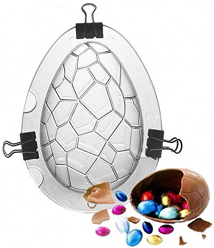 3D Easter Egg Chocolate Mold, Giant Ostrich Dinosaur Eggs Rabbit Shape Non-Stick Silicone Mold DIY Cake Baking Making Tool for Jelly Candy Pudding (Egg)