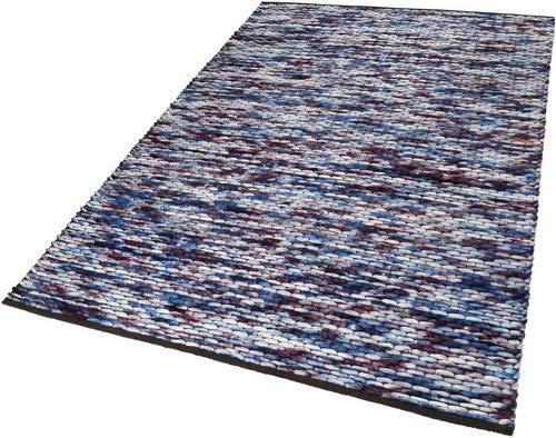 ESPRIT Reflection Moderner Markenteppich, Schurwolle/Baumwolle, Mehrfarbig, 150 x 80 x 2 cm