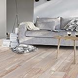 Living Floor, Pavimento in PVC effetto parquet in stile shabby vintage, larghezza: 2m, lunghezza variabile al metro