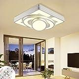 Dimmable led plafonnier luminaire 64W blanc rectangulaire avec télécommande pour chambre salon couloir bureau (64W Dimmable...