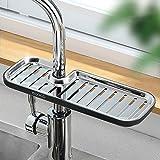 MHTECH Mensola Doccia per Shampoo, Sapone (Senza Foratura), Grigio e Nero (Combinazione di ABS e Acciaio Inossidabile) (Nero - Lungo)