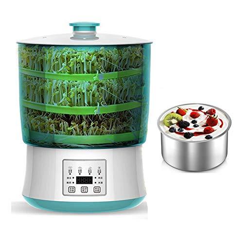 GHKLGTY Spouter Machine LED Display Time Control Food Grad ratura del Vassoio di germinazione Controllo della Temperatura e Kit di germogliatura della seminatrice Domestica dell'Acqua Automatica