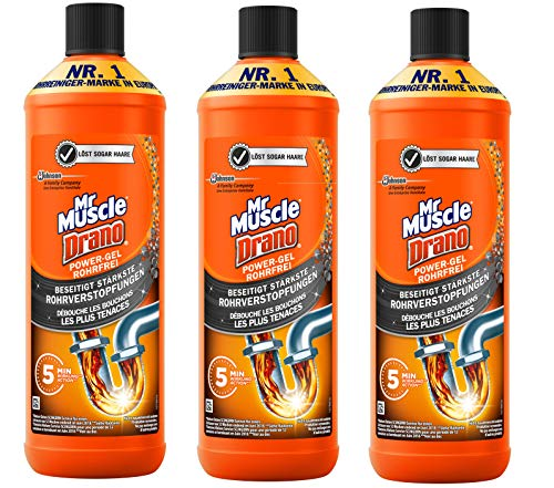 Mr. Muscle Drano Power-Gel, 3 x 1 Liter
