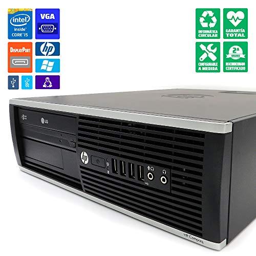 HP 8300 SFF Ordenador sobremesa/Torre Intel Core i5-3470, 16GB RAM, Disco SSD 480GB, Lector DVD/RW, WiFi b/g/n PCIe, Windows 10 Pro. Negro Renovado