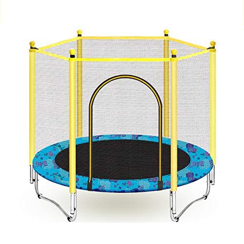 Indoor Safety Trampoline Voor Kinderen - Mini-Trampoline Met Beschermnet En Schuimkatoen Buis, Kan 200 Kg Dragen,Blue