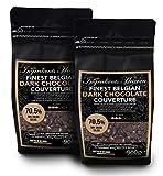 Ingredients Heaven - 70,5% Cobertura de Chocolate Negro Belga - Finest Belgian Dark Chocolate Couverture – Doble Paquete (2 x 900g)