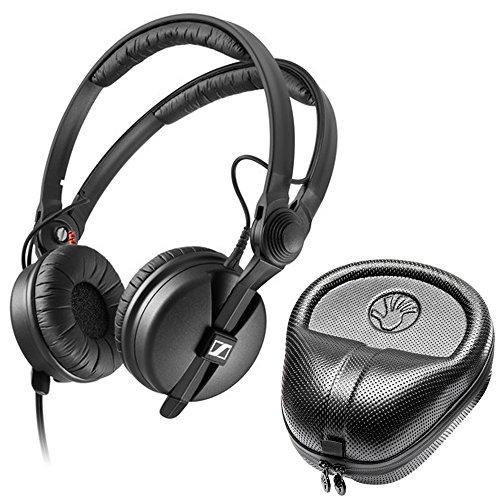 Sennheiser HD 25 Plus On-Ear-Kopfhörer mit geschlossener Rückseite, DJ-Kopfhörer + Slappa HardBody PRO Kopfhörertasche