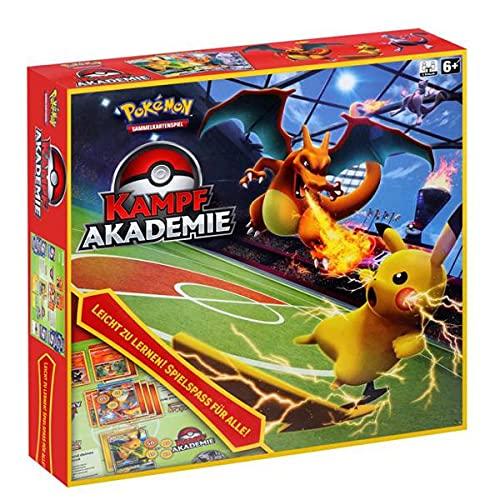 Arkero-G Pokemon Kampf Akademie Box | Starter-Deck Set Glurak Raichu Mewtu-GX | DEUTSCH | inklusive 100 Standard Soft Sleeves