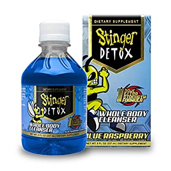 Stinger Detox Whole Body Cleanser 1 Hour Extra Strength Drink – Blue Raspberry – 8 FL OZ