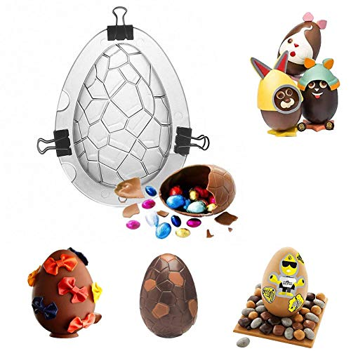 3D Easter Egg Mold for Baking, Easter Dinosaur Egg Mold for Making Hot Chocolate,Candy,Cake,Jelly,Baking Tools Non-Stick Molds Candy Mold for Easter Day Festival Atmosphere,Parties,DIY Enthusiasts
