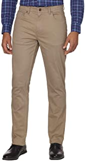 DKNY Men's Brushed Bedford Slim Straight Twill Pant