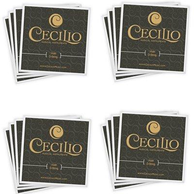 Cecilio Saitensatz für Violine 1/2-1/4 Edelstahl (insgesamt 16 Saiten) 4 Packungen