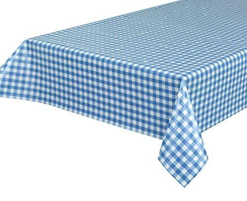 BEAUTEX Wachstuchtischdecke Wachstuch Tischdecke abwischbar ECKIG RUND OVAL, Motiv und Größe wählbar (Motiv: Bavaria blau, Eckig 140x100)