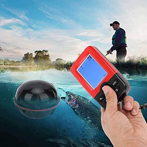 YONIISEA InaláMbrica Buscador de Peces, PortáTil Sensorde Peces Sonar Impermeable Equipo de Pesca en Kayak La Distancia de DeteccióN es de 100 M para Pesca Marina O Pesca en Zonas EspecíFicas