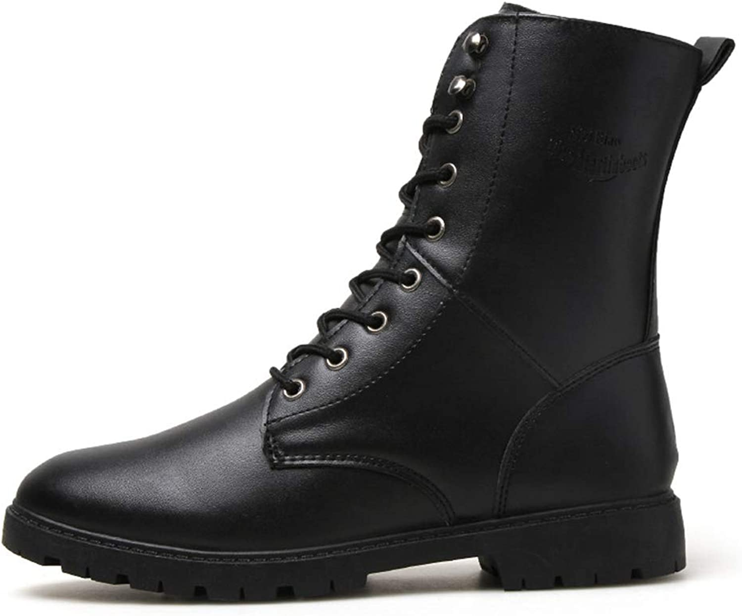 Men's shoes Men's shoes, Mens Casual shoes Men's Booties Ankle Boots Fashion Military Boots Winter Men Leather Boots Implicit Increase Special Boots Men's Fashion Boots (color   Black, Size   42)