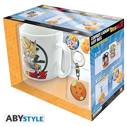 ABYstyle - Dragon Ball - Coffret Cadeau - Mug + Porte-clés + Badges