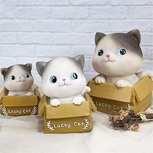 Hucha,Hucha creativa Miaoxiaole, bonita decoración de muebles para el hogar, regalo para niños, ojos abiertos de gran tamaño