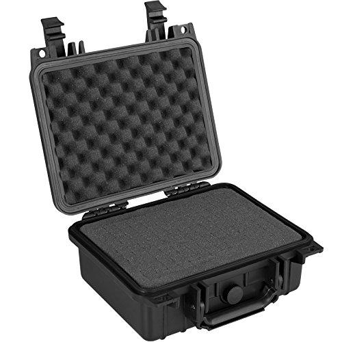 TecTake 800574 - Universalbox Kamera-Schutzkoffer, Leichte & robuste Hartschale aus Kunststoff, 3 Schaumstoffeinlagen - Diverse Größen (S   Nr. 402869)