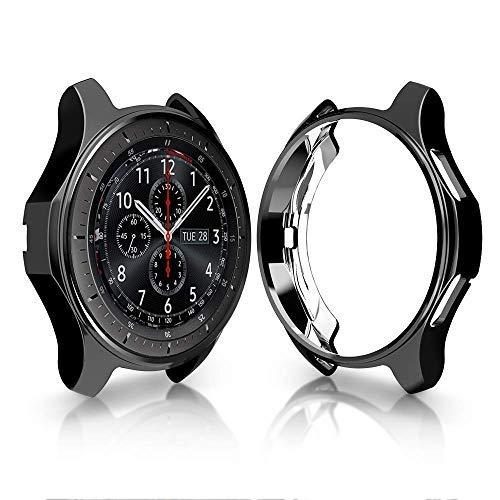 SUPORE Kompatibel Galaxy Watch 46MM Schutzhülle Soft-TPU-Schutzhülle für Schutzeigenschaft und Schutz vor Umgehender Schutzhülle Samsung Galaxy Watch 46MM (2018) / Gear S3 Frontier (2017) Smartwatch
