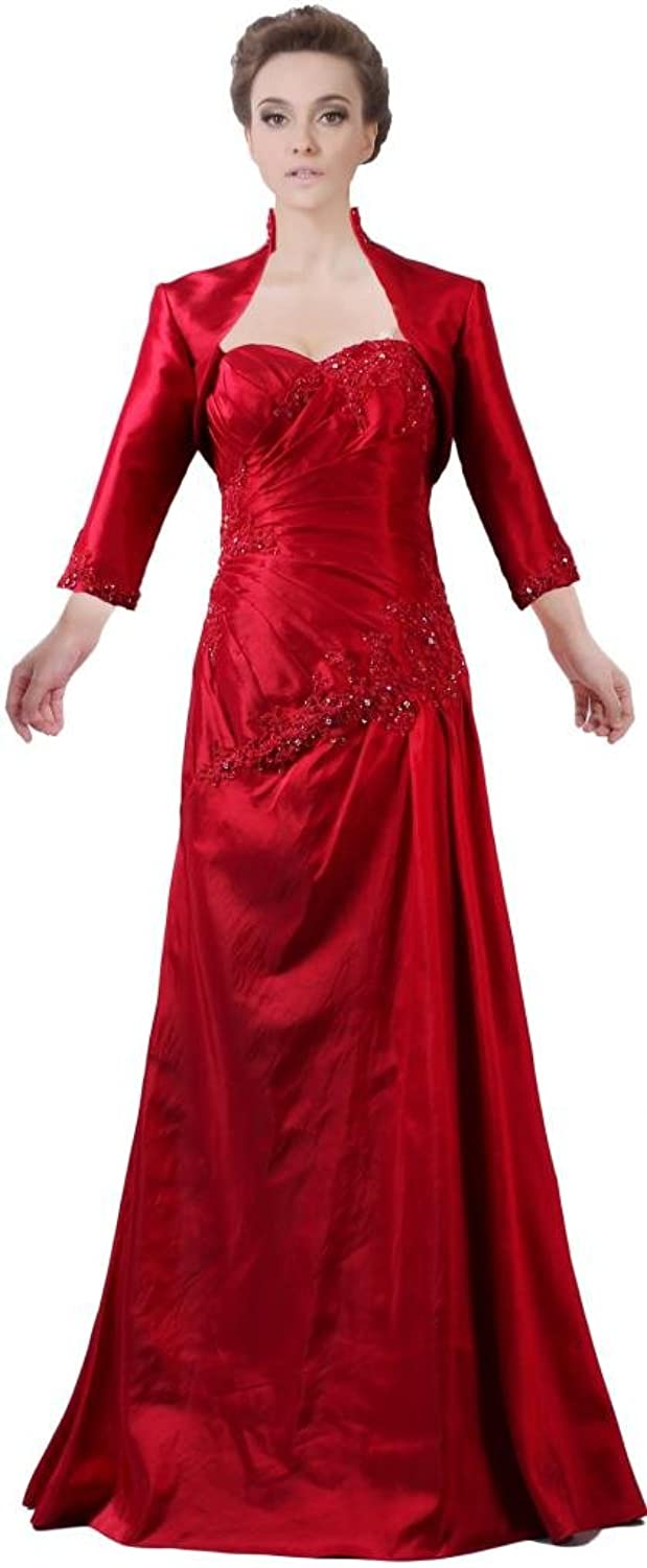 ANTS Women's Sweetheart 3 4 Sleeves Mother of The Bride Dresses with Jacket