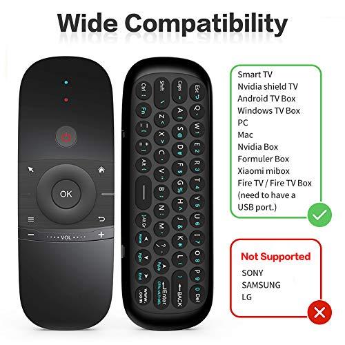 Air Mouse Remote, 2,4 G drahtlos Universal Fernbedienung mit Tastatur und Mausfunktion für Android TV Box, Windows TV Box, PC, Mac, Xiaomi mibox, HTPC, Laptop