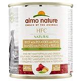 almo nature - Comida Húmeda para Perros HFC Natural de Vacuno, Patatas y Guisantes sin gluten, 12 unidades x 290 g