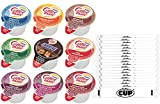 Coffee mate Liquid Creamer Singles 9 Flavor Variety Pack, Includes Original, French Vanilla, Hazelnut, Snickers, Italian Sweet Crème (Pack of 45) With By the Cup Sugar Packets