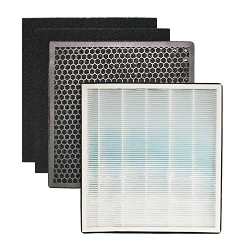 For Sale! WWX Replacement HEPA Charcoal Carbon Filter Set fits Ivation IVAHEPA01 Air Purifier
