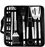 Coocnh 20pc Heavy Duty BBQ Grill Tool Set in Case - The Very Best Grill Gift on Birthday Wedding -...