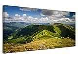 Declina - Lienzo impreso con paisaje, decoración de pared, foto sobre lienzo, gran formato, cuadro de fotos, decoración panorámica de las montañas vascas 60 x 30 cm, Lona, 60x30 cm