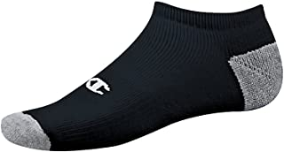 Double Dry Performance No-Show Socks (CH608) Black, 10-13