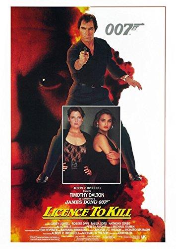 James Bond-Licence To Kill-10 x 15 cm, diseño de postal