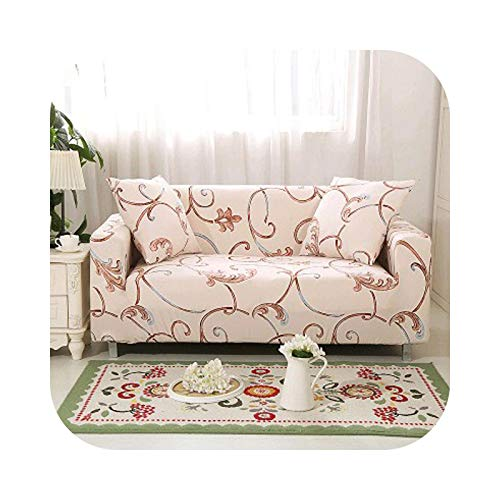 Onln 2021 Stretch Slipcovers Sofa Cover for Living Room Slip-Resistant Sectional Elastic Couch Sofa Case Towel Single/Two/Three/Four Seat-16-four seat Sofa