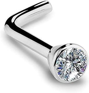 bezel set diamond nose ring