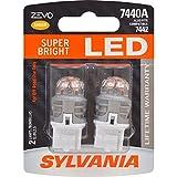 SYLVANIA ZEVO 7440 T20 Amber LED Bulb, (Contains 2 Bulbs)