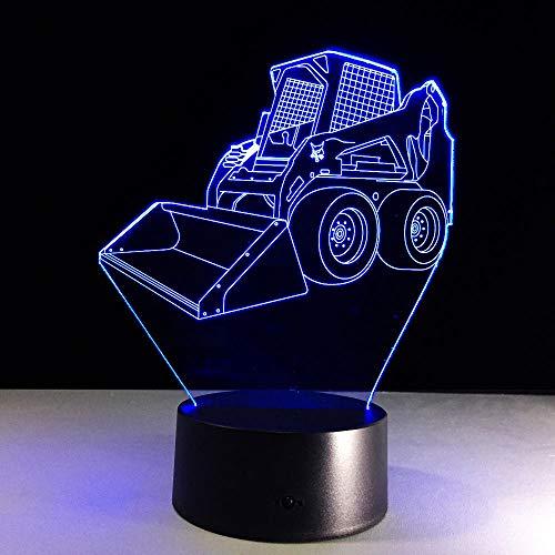 3D IllusionLampe Schaufel-Gabelstapler Nachtlicht USB 7 Farben ändern LED Dekor Kinder Geschenk XIAOMAIBU-Keine Fernbedienung
