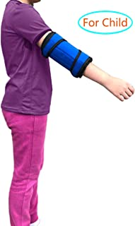 Elbow Brace for Kids Elbow Splint Immobilizer Support Pediatric Arm Fracture Cubital Tunnel Braces Childrens Ulnar Nerve Stabilizer Youth Child Small Pm Night Time Sleeping Straight Restraints(S)