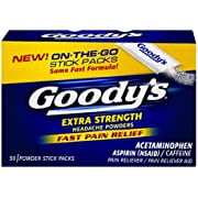 Goody's Extra Strength Headache Powder Temporarily relieves Minor Aches and Pains Due to Headaches, Minor Arthritis Pain, colds, backaches, Muscle Aches, toothaches and Menstrual Cramps